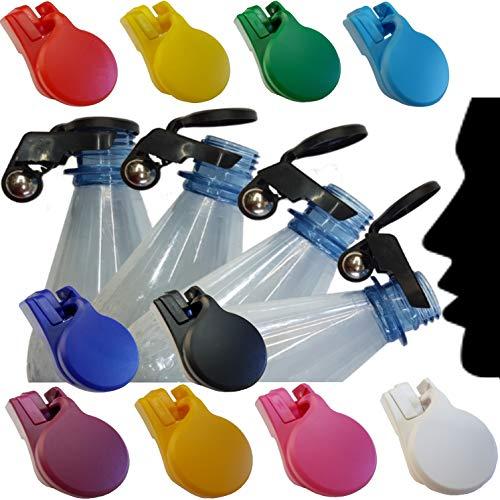 BierEx Tappo Automatico per Quasi Tutte Le Bottiglie, Tappo a Vite, Bottiglie di Vetro Pet Invece di Capsule Tutti i Colori – 10x