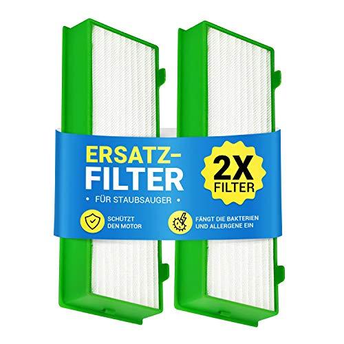 Filter Set 2x Motorschutzfilter für Staubsauger Roboter Kobold VR-200 wie Vorwerk Abluftfilterkassette Lamellenfilter Pollenfilter Filterset für Staubsauger-Roboter Roboterstaubsauger