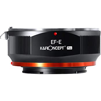 K&F Concept EOS to E Mount Adapter for Canon EF EF-S Mount Lens to E NEX Mount Mirrorless Cameras with Matting Varnish Design for Sony A6000 A6400 A7II A5100 A7 A7RIII