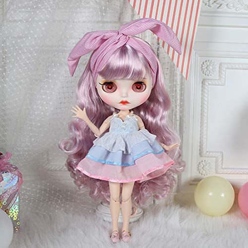 POXL Blythe Doll Puppe 1/6, 30cm 19 Joints Blythe Doll Blythe Puppe Make-up und Kleidung