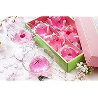 [創味菓庵] 桜とさくらんぼ春彩ゼリー 2種 6個 国産 [包装紙済] 送料無料
