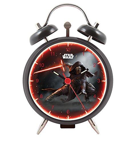 Star Wars Episode VII - Joy Toy Kylo Ren Wecker aus Metall 9 cm in Geschenkpackung 4.5x9x13 cm 27381