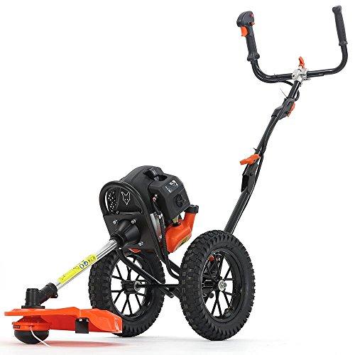 FUXTEC Benzin Motorsense auf Rädern FX-FSR152 mit 52 cc, großen Lufträdern und 3 PS Leistung Trimmer Rasentrimmer Freischneider fs Faden 2-Takt