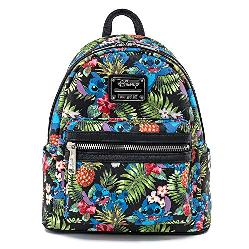 Loungefly Disney Stitch Pineapple All Over Print Womens Double Strap Shoulder Bag Purse