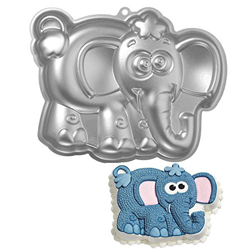 ZJWEI 10 Inch Plane Aluminum Alloy 3D Cake Mold Baking Mould Tin Cake Pan -Elephant