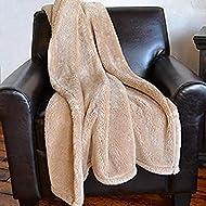 Berkshire Blanket Traditional Serasoft Throw, Cuban Sand