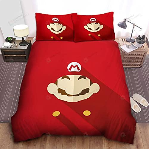 Amacigana Super Mario Anime - Juego de cama 3D con funda de edredón y funda de almohada 3D para cama individual (135 x 200 cm)