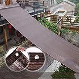 HH- Tela de Sombra 90% Tela de Sombra Sombrilla Paño Borde Encintado con Arandelas, Malla de Malla de Malla para Toldo de Cubierta de Pérgola - Marrón (Size : 1×1.5m)