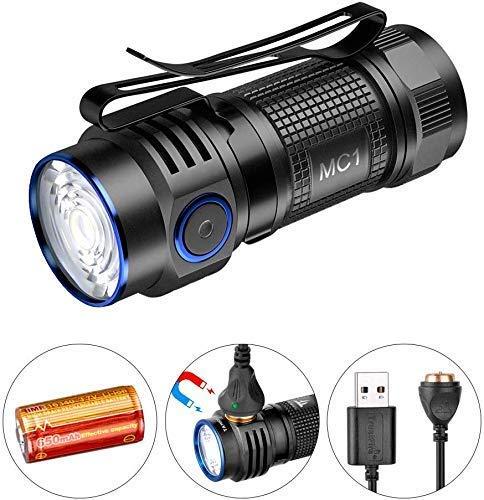 TrustFire MC1 1000 lúmenes CW Linterna LED EDC recargable con batería IMR16340 incluida y cable de carga USB magnético (TrustFire MC1)