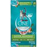 Purina ONE Hairball, Weight Control, Natural Dry Cat Food, Indoor Advantage - 22...