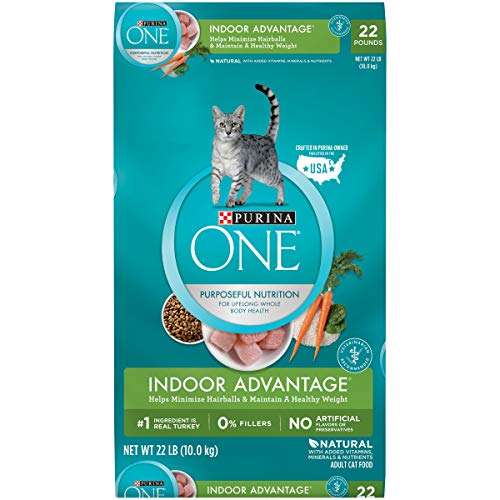 Purina ONE Hairball, Weight Control, Natural Dry Cat Food,...