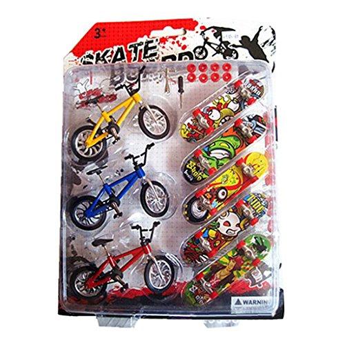 Mini Patinetas De Dedo Bicicletas,VIVIANU Regalos Para Niños Juguete Educativo Divertido Fresco