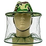 Sombrero de mosquitera de camuflaje, para pesca y campamento, con malla, 2 unidades