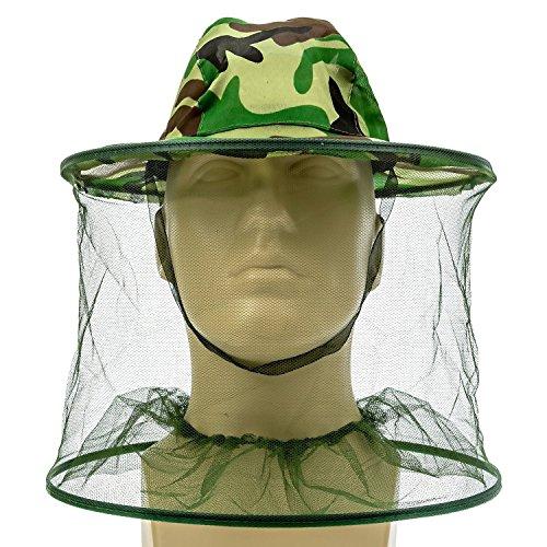 Lot de 2 moustiquaires anti-moustiques pour apiculture et camping Motif camouflage