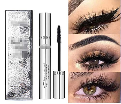 4D Silk Fiber Eyelash Mascara Waterproof 3d Mascara For Eyelash Extension Black Thick Lengthening 4d Makeup (Color : Q2504)