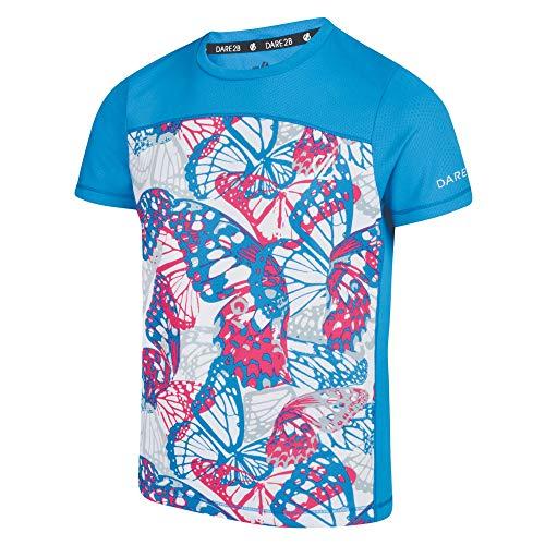 Dare 2b - Camiseta técnica para niño, Niño, Color Atlant CybPk, tamaño FR : 3XL (Taille Fabricant : 15-16)