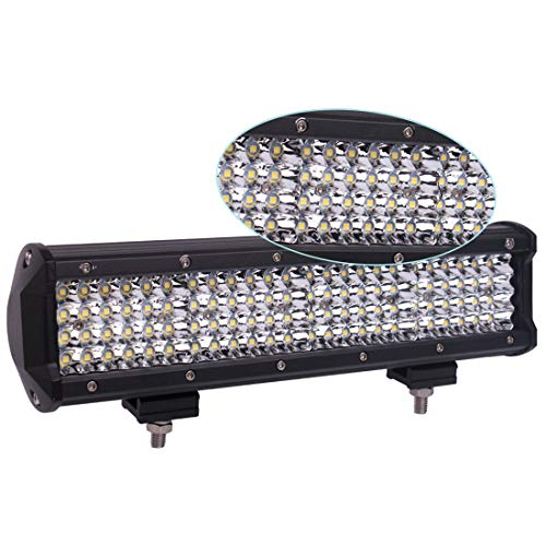 LED Light Bar,7 Inch 2PCS 288W LED Flood Light Pods Work Light Bar LED Pod Lights Spot Beam Driving Fog Lights Quad Row Cubes Lights for Jeep Off-road Truck Boat(7In-288W)