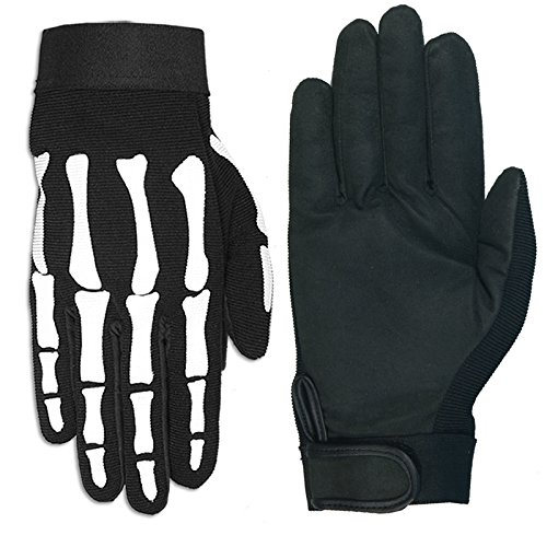 Hot Leathers GVM2007 Skeleton Mechanic Gloves (Black, XX-Large)