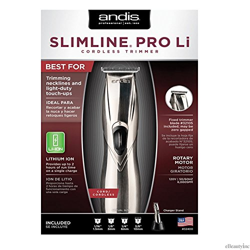 Andis Professional Slimline Cord/Cordless Trimmer - 6000SPM (Slimline Ion)