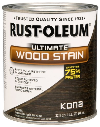 Rust-Oleum 260154 Ultimate Wood Stain, Quart, Kona
