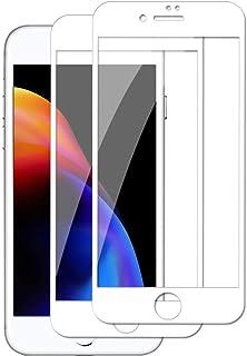 【2枚セット】iPhone 8 Plus 用 iPhone 7 Plus 用 ガラスフィルム 全面保護/日本旭硝子製/硬度9H アイフォン8 Plus 用 7 Plus 用 強化ガラス 全面フィルム 気泡ゼロ/指紋防止/撥油性/高透過率/飛散防...