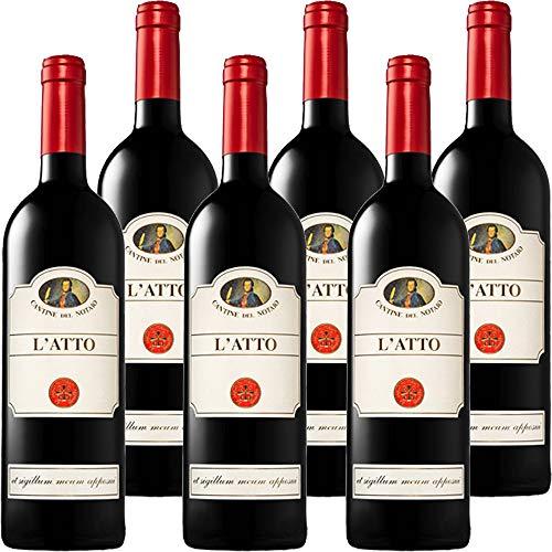 Aglianico del Vulture L'Atto | Cantine del Notaio | Vino Rosso Basilicata IGT | Confezione 6 Bottiglie 75 Cl | Idea Regalo