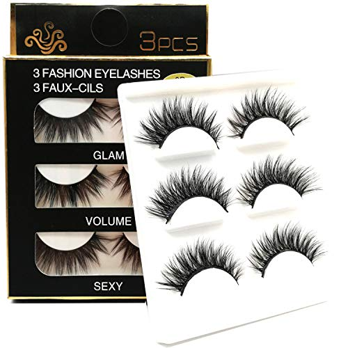 CGlash 3D Fake Eyelashes Long Lashes Crisscross False Lashes for Women