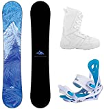 System 2020 Juno and Mystic Complete Women's Snowboard Package (141 cm, Boot Size 6)