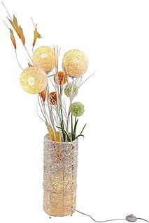 *Lampe de solon Lampadaire lampe de rotin européen fleur tissée à la main salon canapé d'angle canapé chambre chevet LED l...