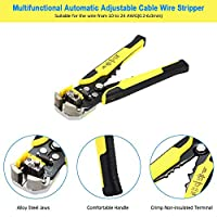 meterk Professional 4 In 1 Wire Crimpers Engineering Ratcheting Terminal Crimping Pliers Cord End Terminals With Wire Stripper