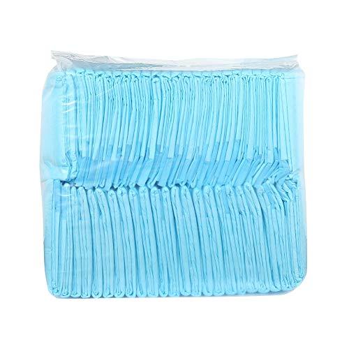 Kalmerende Bed Plush 50/100 Stuks Super Absorberende Dog Training Pee Pads Pet Diaper Disposable Gezonde Schone Nappy Mat For Huisdieren Dog Tag (Color : Sky Blue, Size : 100pcs 33 x 45cm)