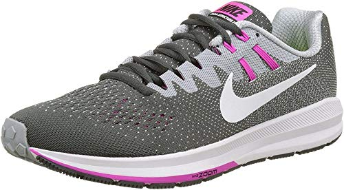NIKE Women's WMNS Air Zoom Structure 20, Anthracite/White-Wolf Grey-FIRE Pink, 5.5 M US