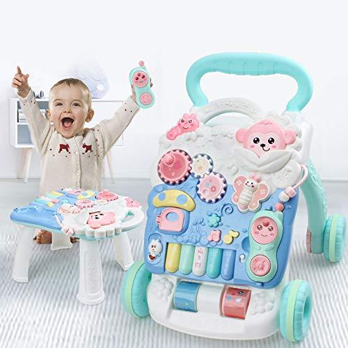 Baby Activity Walker, Baby walker met multifunctioneel waterreservoir, babyspeelgoed van 0 tot 1 jaar oud