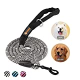 [ Flexible Control ]: The 6 foot long dog leash achieved the perfect balance between freedom and control, your boy and gril can move freely but still under your control [ Advanced Design ]:Training leash With an ergonomic handle, the traction is more...