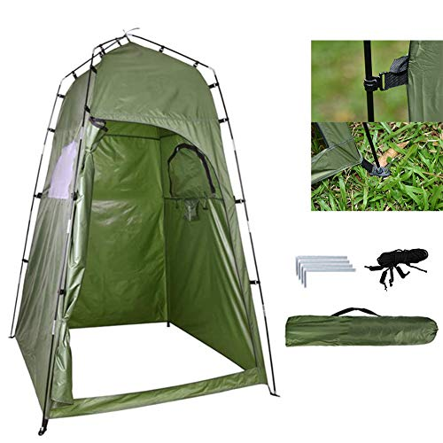 fengicon Portable Shower Camping Toilet Weight 1.7kg With Carrying Bag For Privacy Tent Lightweight & Sturdy Green 47.2x47.2x76.7in