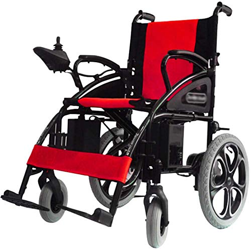 COUYY Electric wheelchair, foldable and portable, seat width 41cm, adjustable backrest and pedals