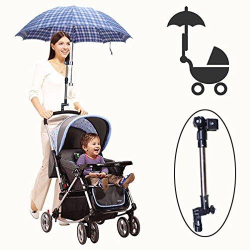 Regenschirm-Halterung, verstellbar, für Fahrrad / Rollstuhl / Rollator / Roller / Kinderwagen / Angel / Golftrolley