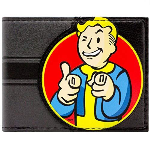Bethesda Fallout 4 Vault Boy Charisma Schwarz Portemonnaie Geldbörse