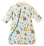 Mariisay Sacco A Pelo Baby Con Maniche Casual Chic Staccabili Testurizzato Invernale Elegante Confortevole Stile Moderno Per La Casa (Color : Tierwelt, Size : M/H 75-85Cm)