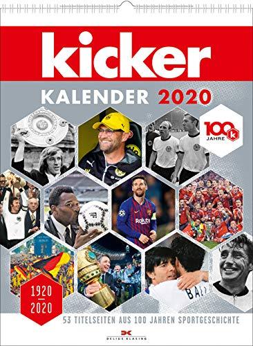 kicker Kalender 2020: 1920–2020. 53 Titelseiten aus 100 Jahren Sportgeschichte