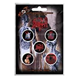 Death Badge Pack Band Logo Albums Death Metal Official 5 X Pin Button Size One...