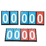 Jadeshay Tabellone segnapunti, 2/3/4 cifre Portatili Flip Sport Scoreboard Score Counter per Ping-Pong Basketball Segnapunti da Tavolo