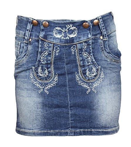 MarJo Damen Jeans Rock 230900 (32, blau)