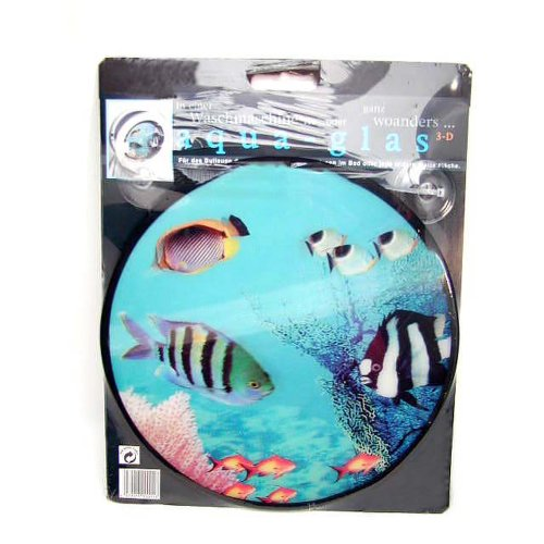 HAB & GUT -AG001-3 dimensionales Dekobild für Waschmaschine Fische mit Saugnapf zur Befestigung an der Waschmaschinen am Bullauge