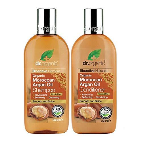 Dr Organic - Juego de champú y acondicionador de aceite de argán marroquí