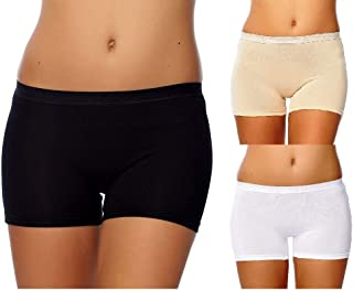 SEVIM Women's 3 Pack Comfortable Cotton Bike Yoga Boxer Brief Boyshort
