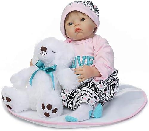 0Miaxudh Reborn-Puppe, 5cm lebensechtes Neugeborenes Babypuppe, mädchen Boy Vinyl Silikon Pretend Play Reborn Toy Light Rosa