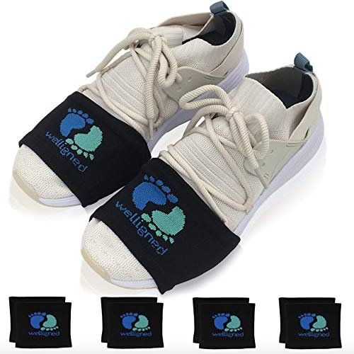 Welligned Dance Socks Over Sneakers for Smooth Floors - Black Fitness & Line Dance Shoe Covers for Women & Men - Glide Easily & Reduce Injury When Dancing at Home - 4 Pairs, One Size Fits All