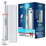 Oral-B Pro 3-3500 - Spazzolino Elettrico Bianco, 1 Spazzolino Con Sensore Di Pressione Dello Spazzolamento Visibile, 1 Testina, 1 Custodia Da Viaggio