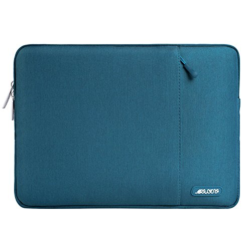 MOSISO Tablet Sleeve Hülle Kompatibel mit 2021-2018 iPad Pro 11 M1,2020 10.9 iPad Air 4,10.2 iPad 2020 2019,10.5 iPad Air 3,10.5 iPad Pro,9.7 iPad,Surface Go,Polyester Vertikale Tasche,Deep Teal